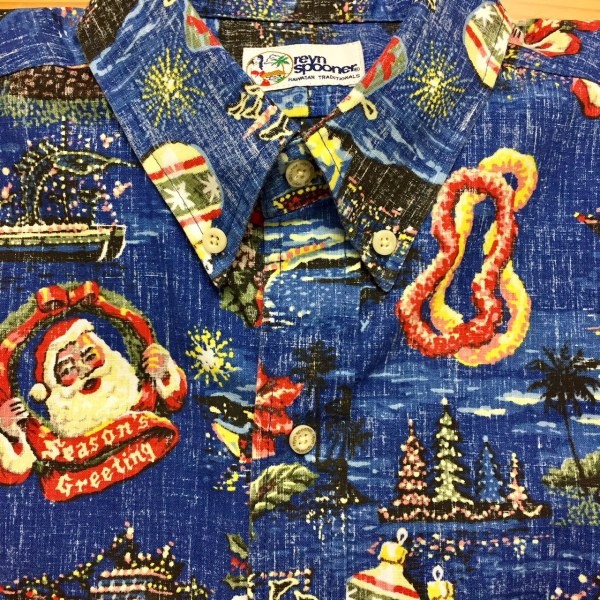 32c16b6b61 In Hawaiʻi? Not so much. So I rock the not-so-ugly Christmas aloha shirt. Reyn  Spooner makes them. I think they're pretty cool.